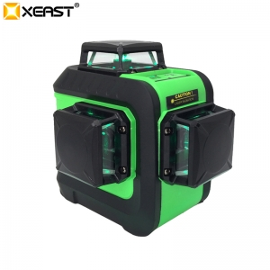 XEAST 2018 NEW 12 Lines 3D Green laser level Self-Leveling 360 Horizontal Cross green Beam