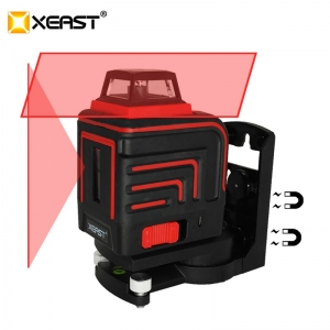 XEAST LD 5 Lines 3D Red laser level Self-Leveling 360 Horizontal And Vertical Cross Red Laser Beam With Tilt&Outdoor Mode XE-305R