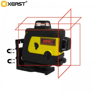 Xeast XE-70R 3D 360 12 Line Red Laser Level Self-Leveling Slash Glare Outdoor Level New