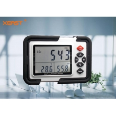 China XEAST Digital CO2 Monitor Carbon Dioxide Meter XE-2000 Multi-function  Temp/RH/data logger Monitor Detector CO2 Gas Analyzer factory