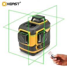 China XEAST 12 lines XE-12A lithium battery green laser level 360 Vertical And Horizontal Self-leveling Cross Line 3D Laser Level factory