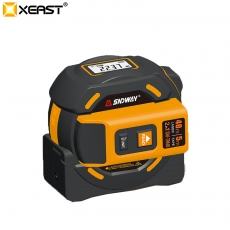 China XEAST 2 in 1 40M 5m steel laser measure tape rule Self-locking laser range finder factory