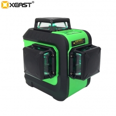 La fábrica de China XEAST 2018 NEW 12 Lines 3D Green laser level Self-Leveling 360 Horizontal And Vertical Cross green Laser Beam With Tilt&Outdoor