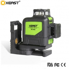 China XEAST 8 lines XE-902 360 Self-leveling Cross Line Red Beam laser level machine tool factory