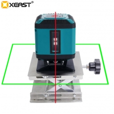 China XEAST Mini Portable 3D Green 5 Lines (4 H and 1 V) Self-Leveling 360 Degree line Laser Level Measuring for floor leveling check factory