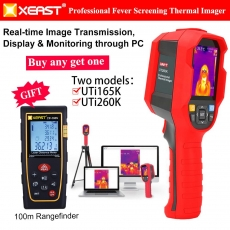 China XEAST UTi260K Hand-held Human Body Temperature Measurement Tool Infrared Thermal Imager in real PC Software Analysis factory