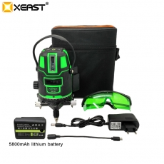 China XEAST XE-11A 5 line 6 point Green laser level meter 360 degree laser level with outdoor mode tilt mode Self Leveling factory